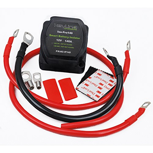 dual atv battery store 140 amp dual battery isolator atv utv wiring kit by keyline chargers voltage sensitive relay vsr